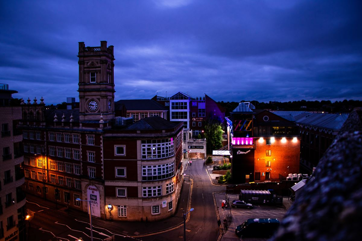 Nottingham at night